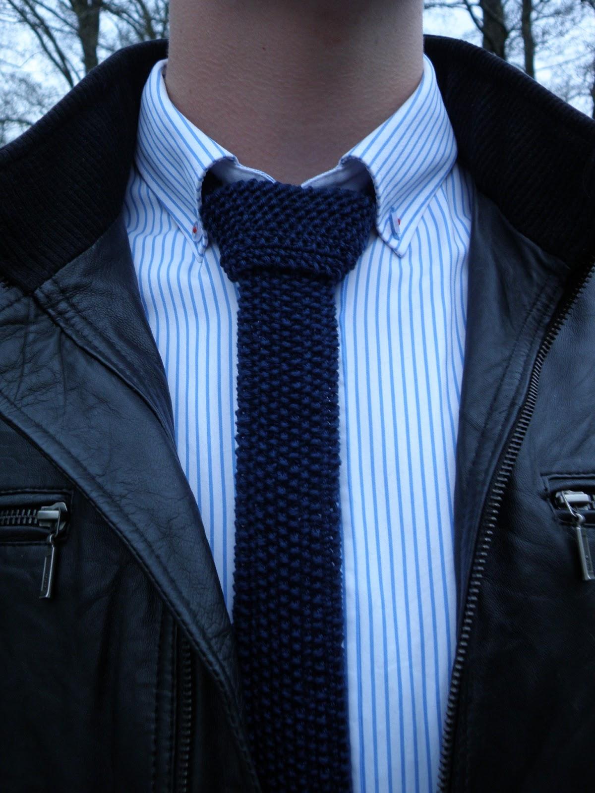 strikket slips opskrift