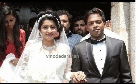Meera Jasmine and Anil John  marriage ceremony at the church