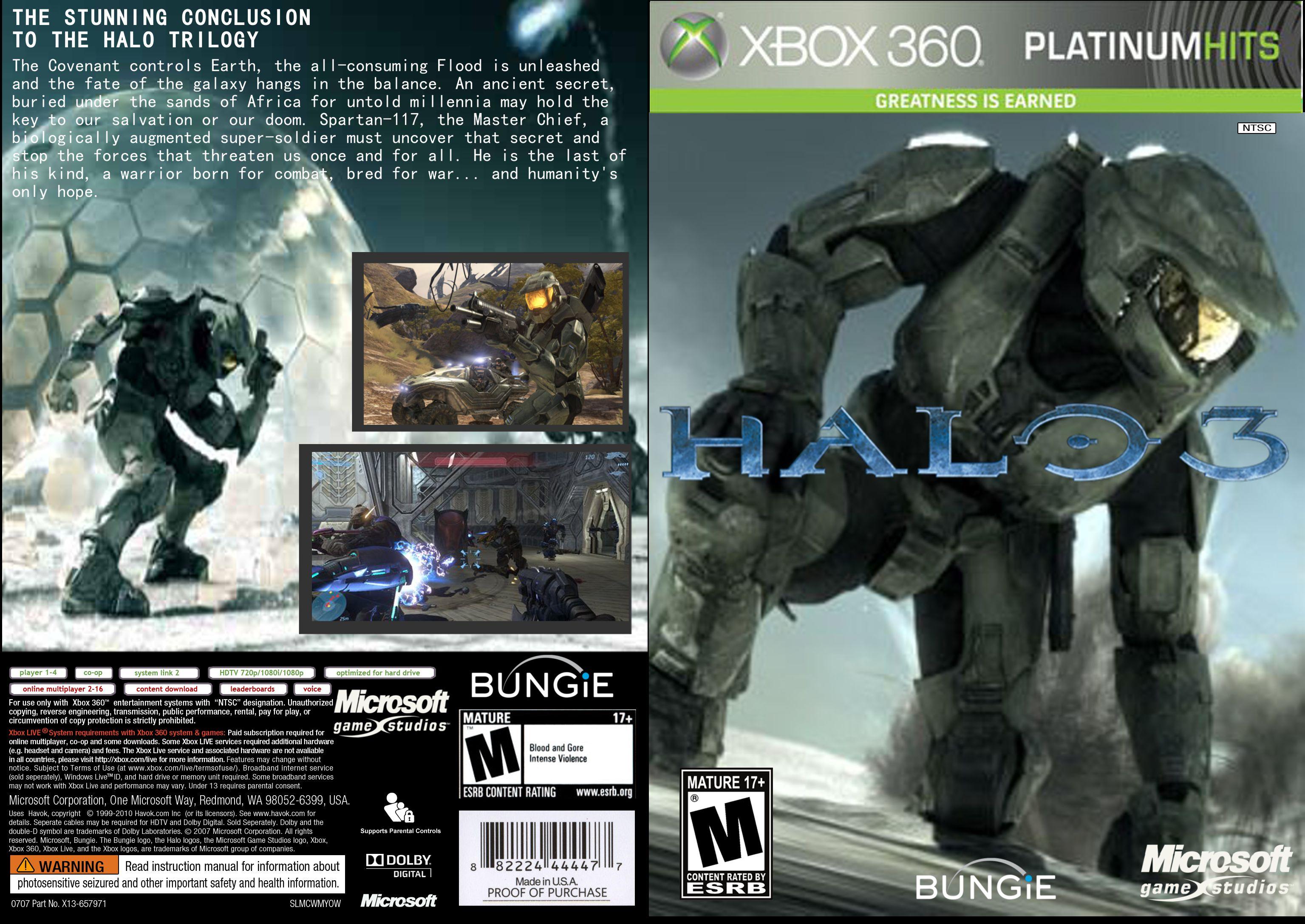 Capa Halo 3 Xbox 360
