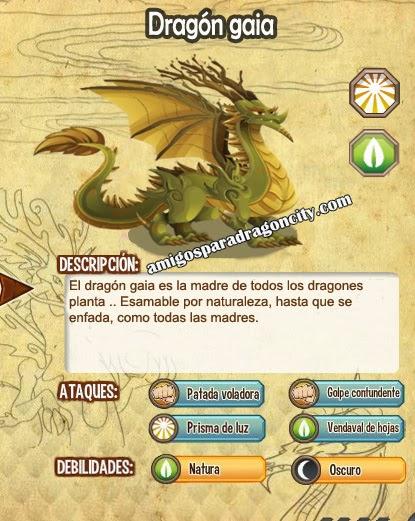 imagen de las caracteristicas del dragon gaia