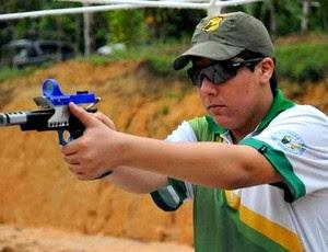 Márcio Gabriel Araújo, atleta Júnior, é o terceiro colocado no ranking brasileiro de IPSC na divisão Open