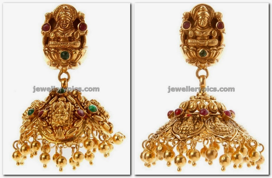 lakshmi devi temple jhumka design