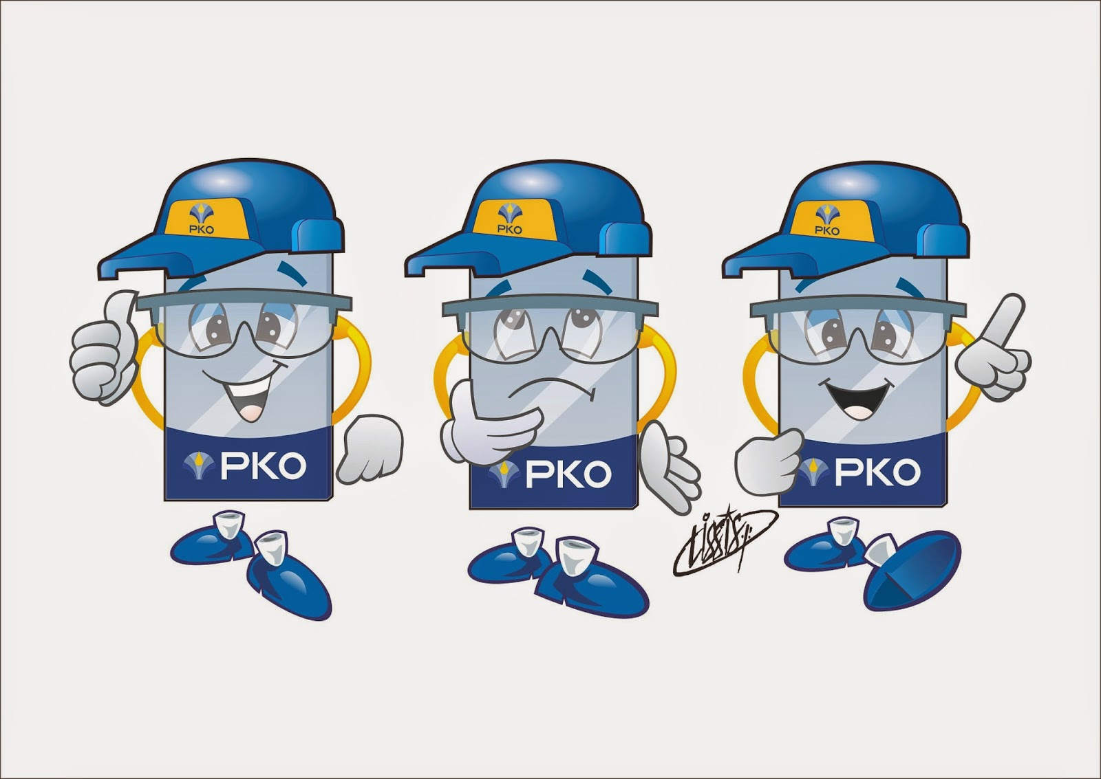 Programa 5 S desenho posições mascote