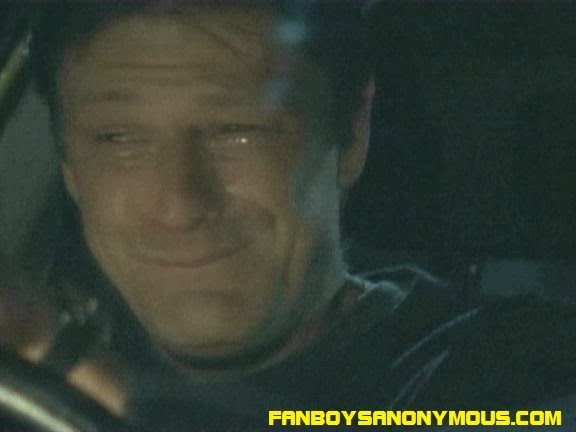 Young Sean Bean crying