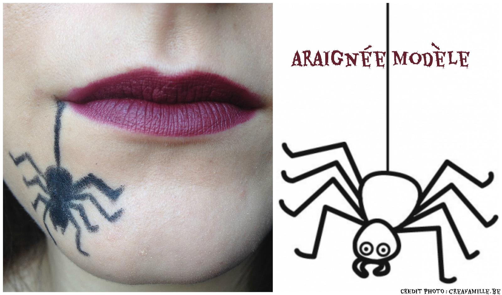 Maquillage halloween facile araign e - Maquillage toile d araignee ...
