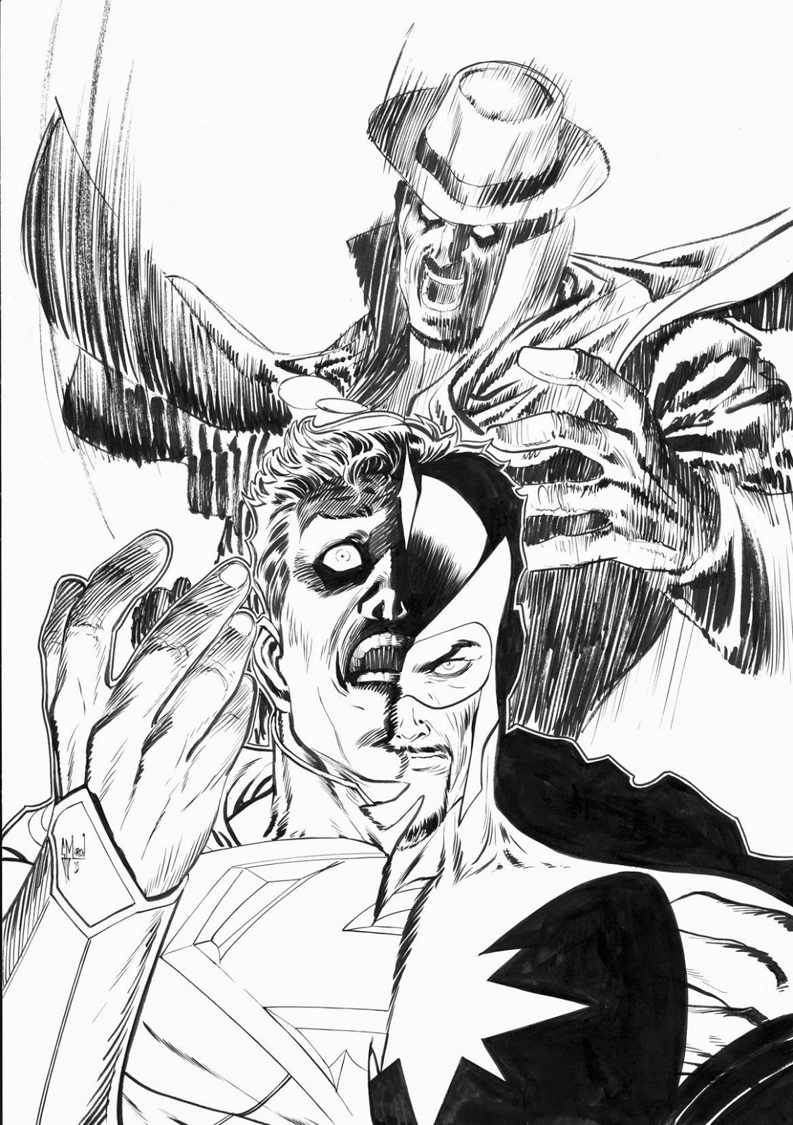 Making of a cover: PHANTOM STRANGER #18 by Guillem March