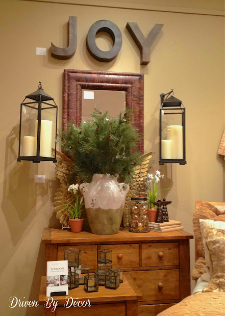 pottery barn christmas decorating