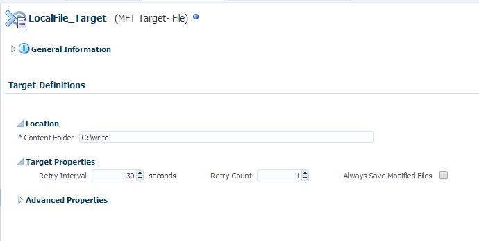 MFT Target Advance properties