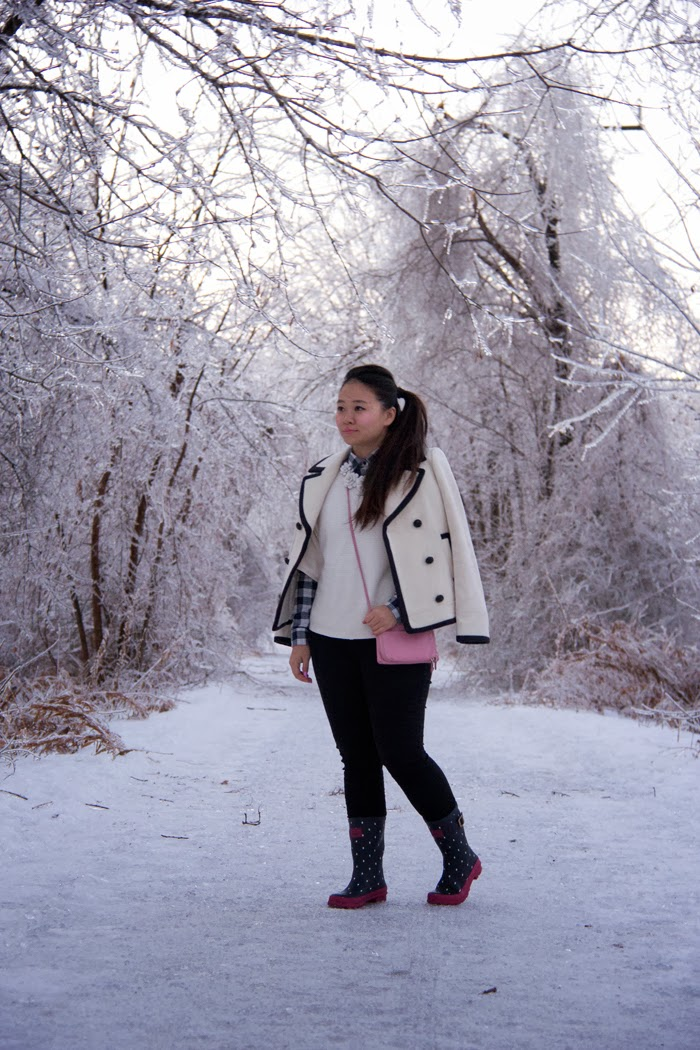 JCrew-PeaCoat, Winter-Outfit, Street-Style, Ice-Storm, Toronto
