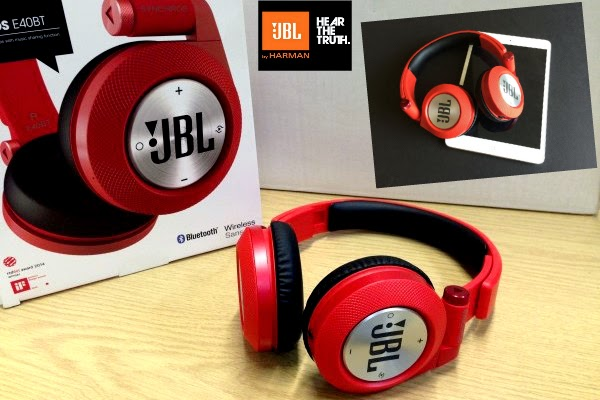 JBL Synchros E40BT on-the-ear headphones in Candy Red