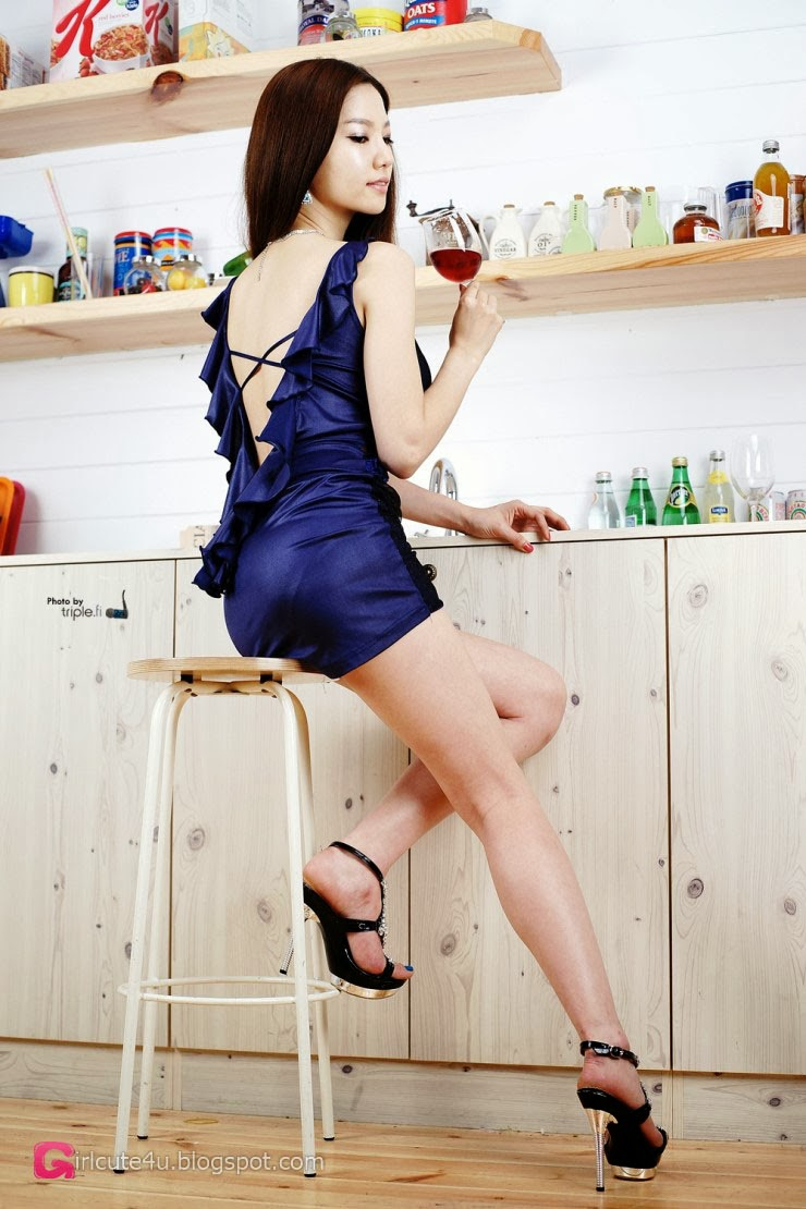 5 Han Min Young in kitchen - very cute asian girl-girlcute4u.blogspot.com