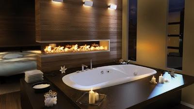 cuarto de baño chocolate