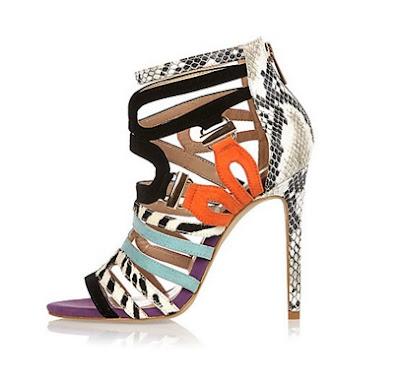 River Island Multicolored Strappy Heels