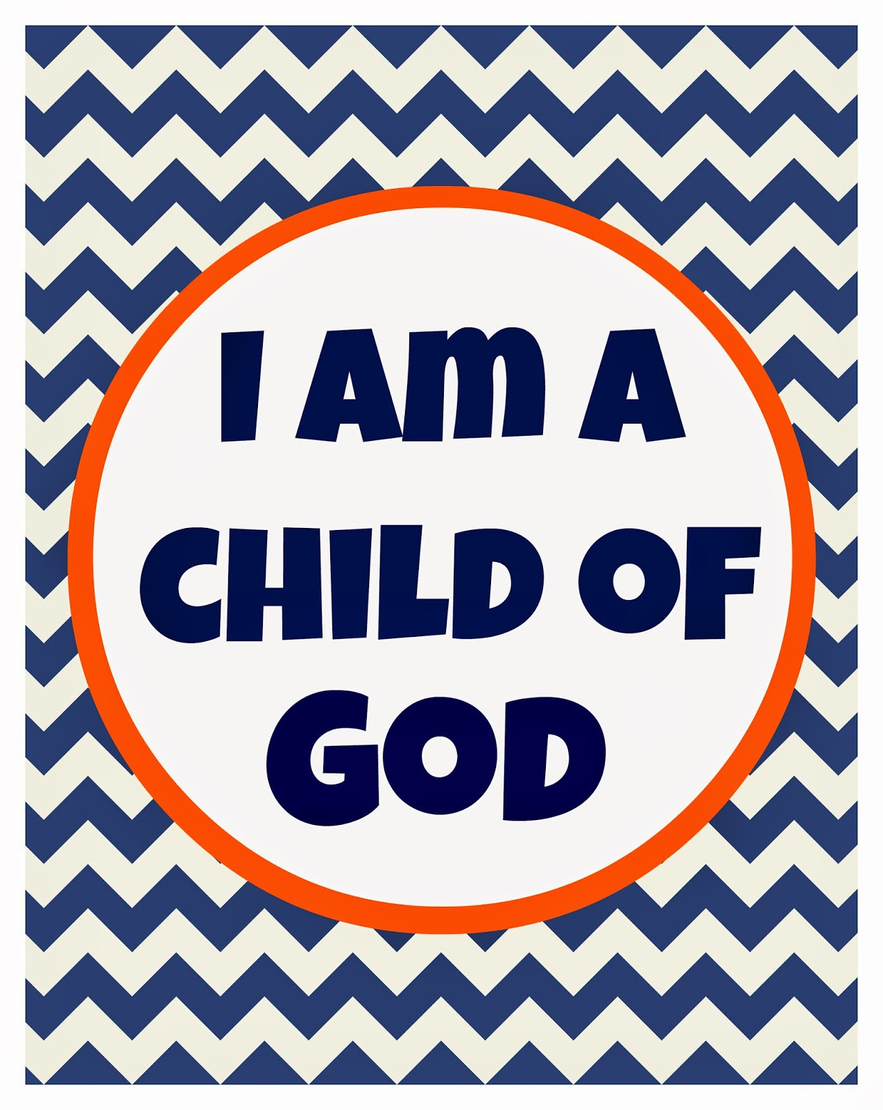 S Room I Am A Child Of God Printable