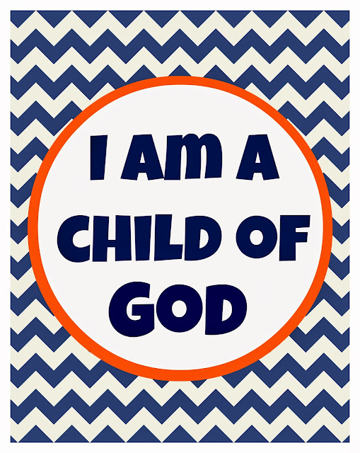 Geeky image within i am a child of god printable