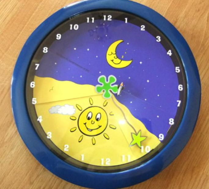 24 hour clocks for kids. Black Bedroom Furniture Sets. Home Design Ideas