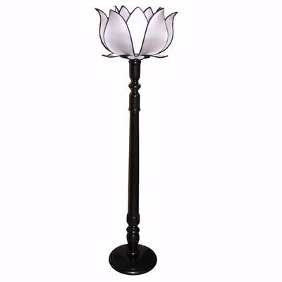 Celebrated style lotus flower lights for Lotus floor lamp white
