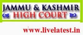 High court of Jammu & Kashmir Recruitment