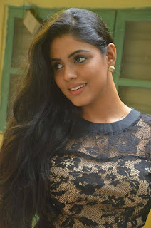 Iniya Looks really beutiful in all black top and plazo