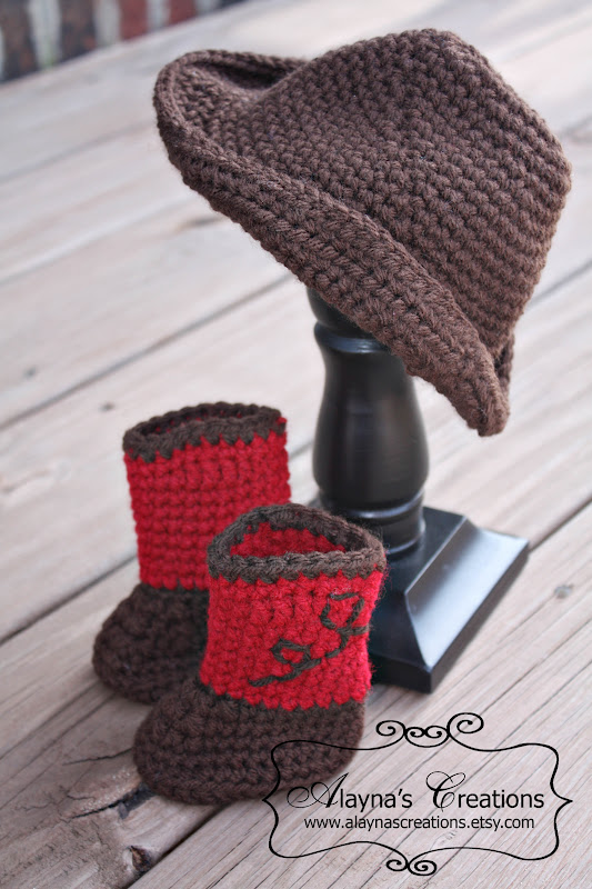 Crochet Pattern For Cowboy Hat And Boots : Alaynas Creations: A Little Show and Tell