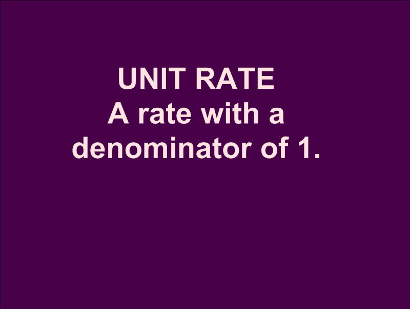 how to solve unit rates in math