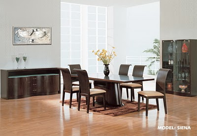 Decoraci n de interiores comedores modernos for Comedores de 6 sillas modernos