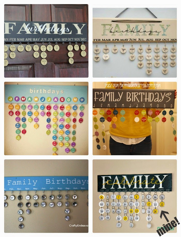 Family Birthday and Anniversary Calendar inspiration. See how I made mine, using my Silhouette and paper key tags at Clever Nest. Silhouette files included #cameo #etsyfamilycalendar #grayyellow #clevernest
