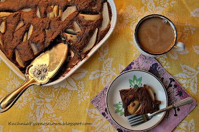 123. Bardzo czekoladowe ciasto z gruszkami