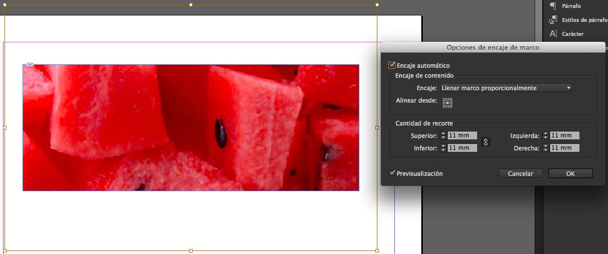 Trabajo con las imágenes en InDesign. | Aprende y enseña.