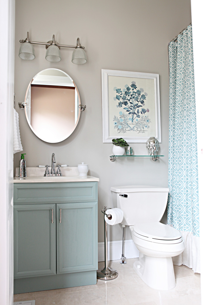 Sweet ava kate updated bathroom mirrors for Bathroom ideas color schemes