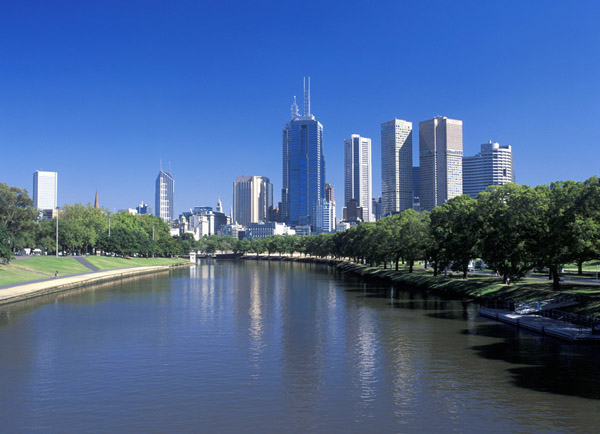Yarra river bay, rivers in melbourne