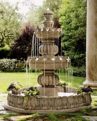 Fountain Designs In Outdoor : Choose Outdoor Fountain - Perfect Outdoor Fountains Decoration Ideas ...