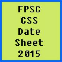 Federal Public Service Commission FPSC Date Sheet 2016