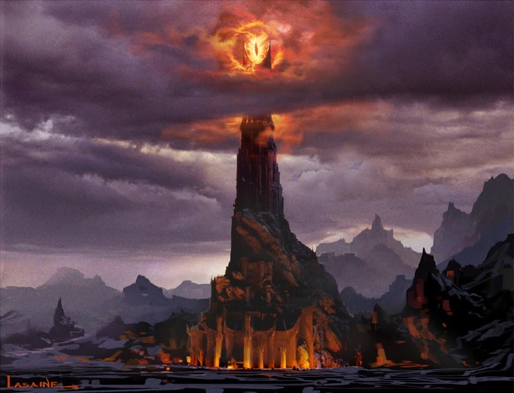 Sauron en la tierra de Mordor - Imagen por Paul Lasaine