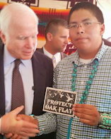 John McCain: In his face, Dine' support for Apaches Oak Flat!
