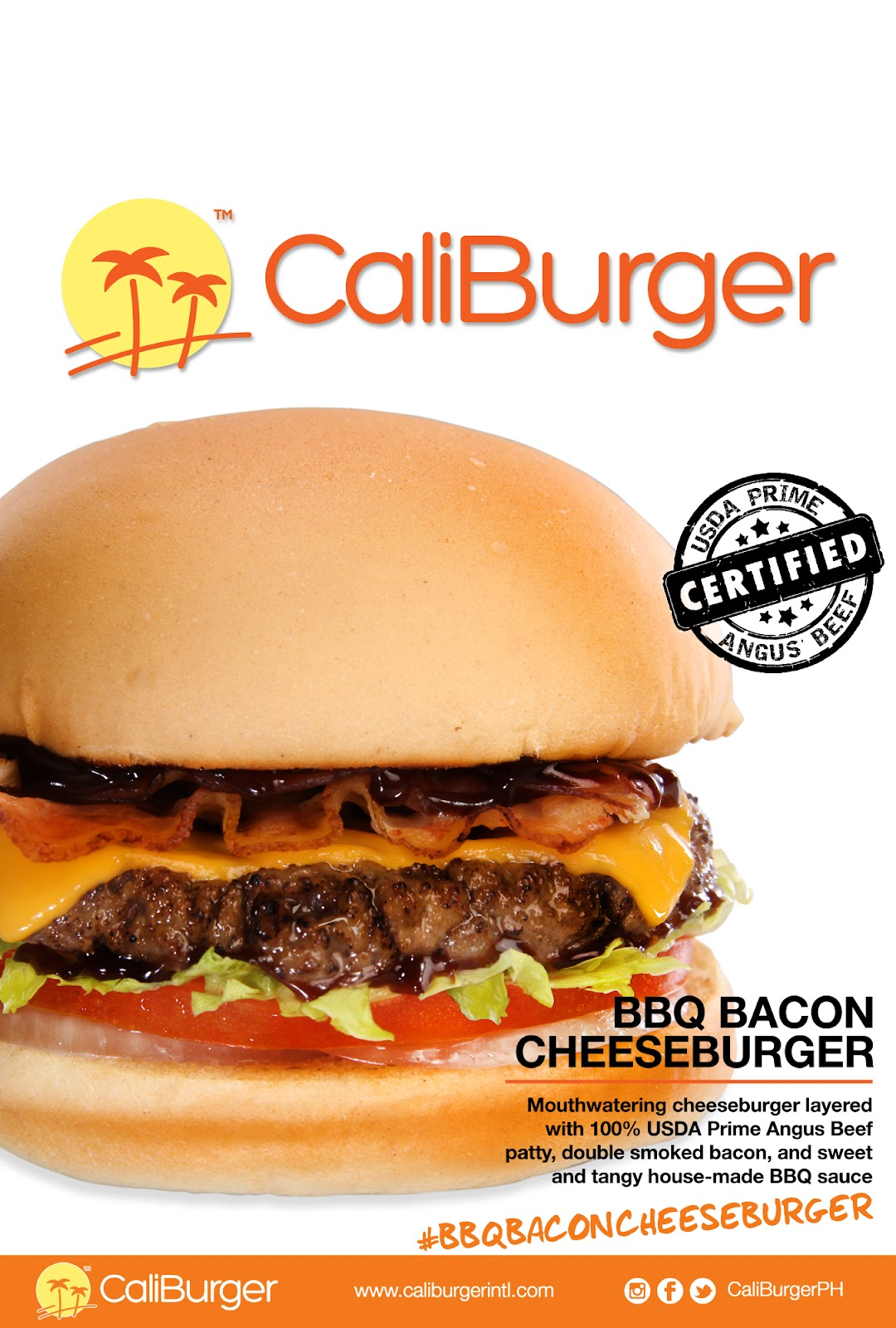 CaliBurger BBQ Bacon Cheeseburger