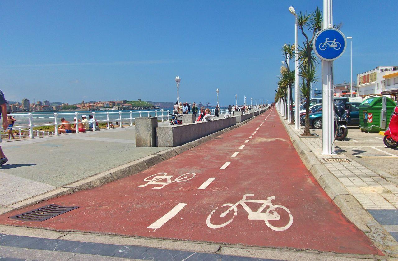Rutas senderismo y bici por Gijon