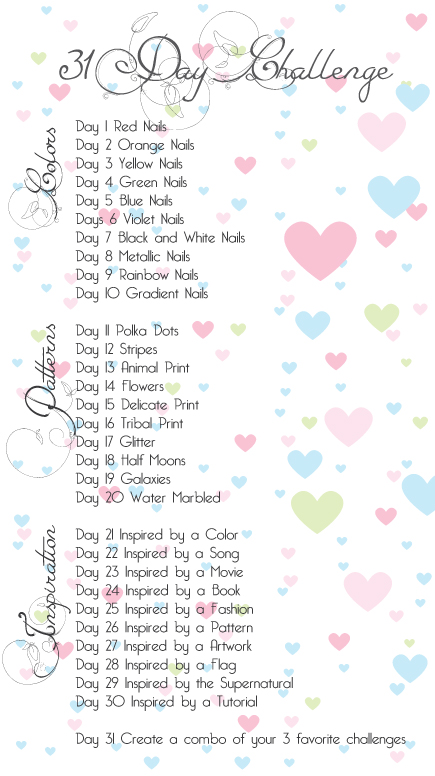 31 day nail challenge patterns 17 holo