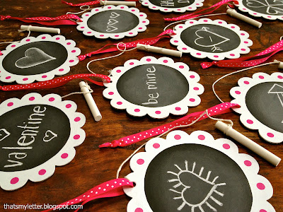 diy chalkboard valentines using chipboard cutouts