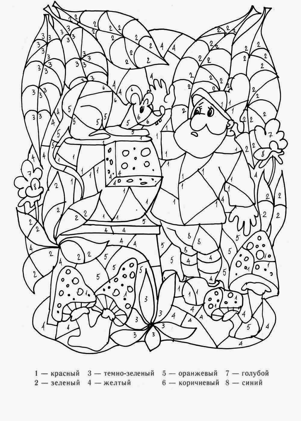 Раскраска орех лесной