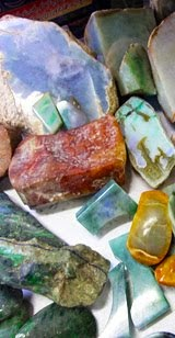 The raw mineral rocks