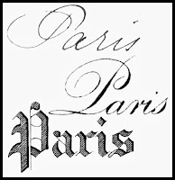 Paris-French-Typography-Antique-Graphics-Royalty-Free-Stock-Image