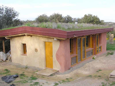 straw bale house processing