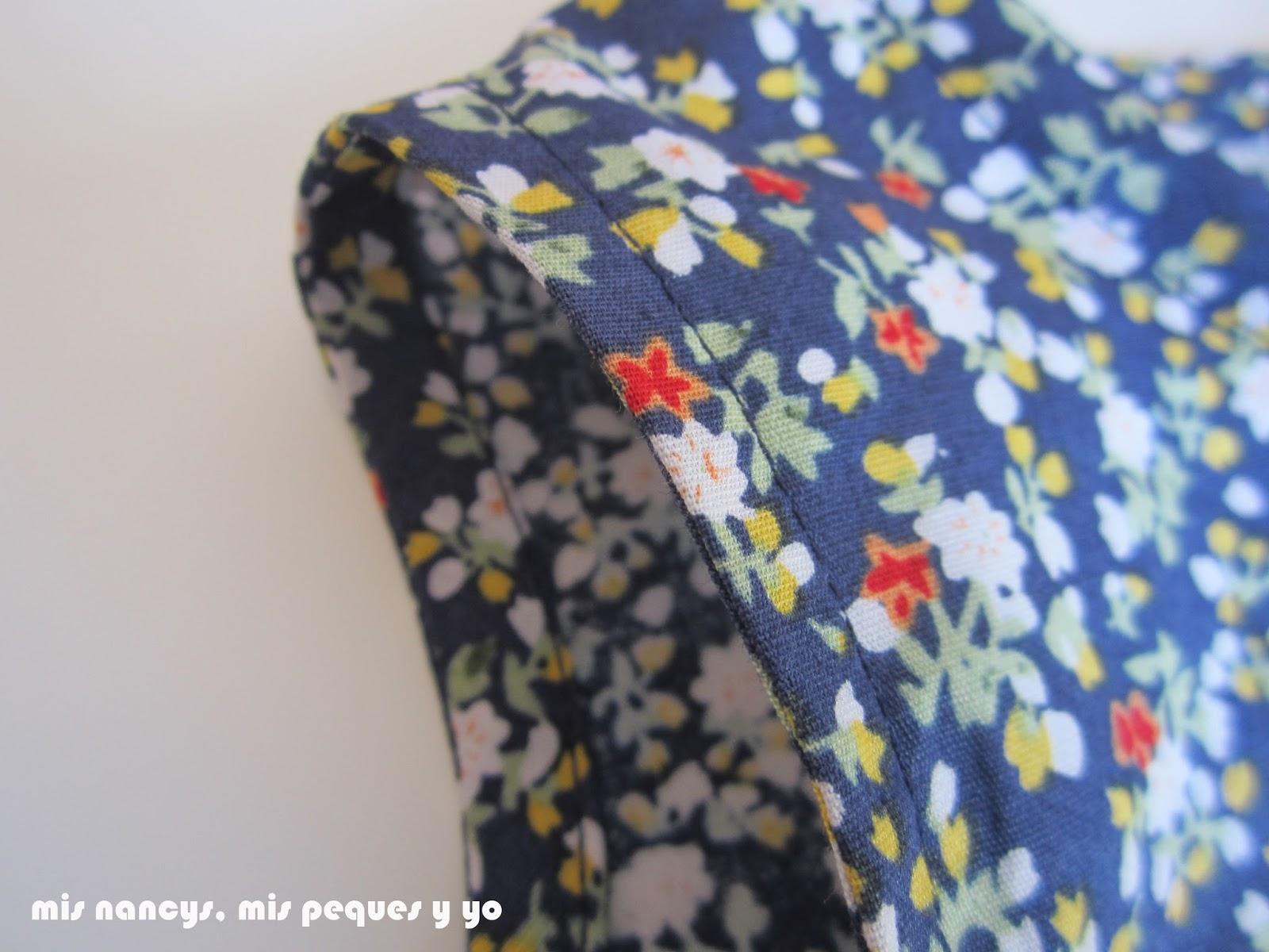 mis nancys, mis peques y yo, tutorial blusa sin mangas niña (patrón gratis), blusa terminada detalle mangas