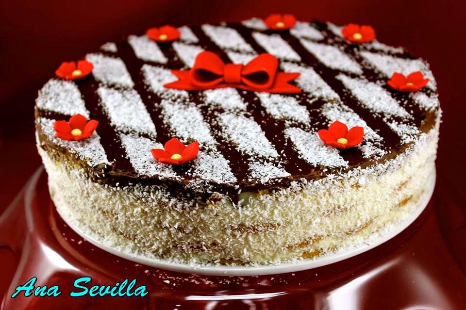 Tarta de coco y galletas Ana Sevilla con Thermomix