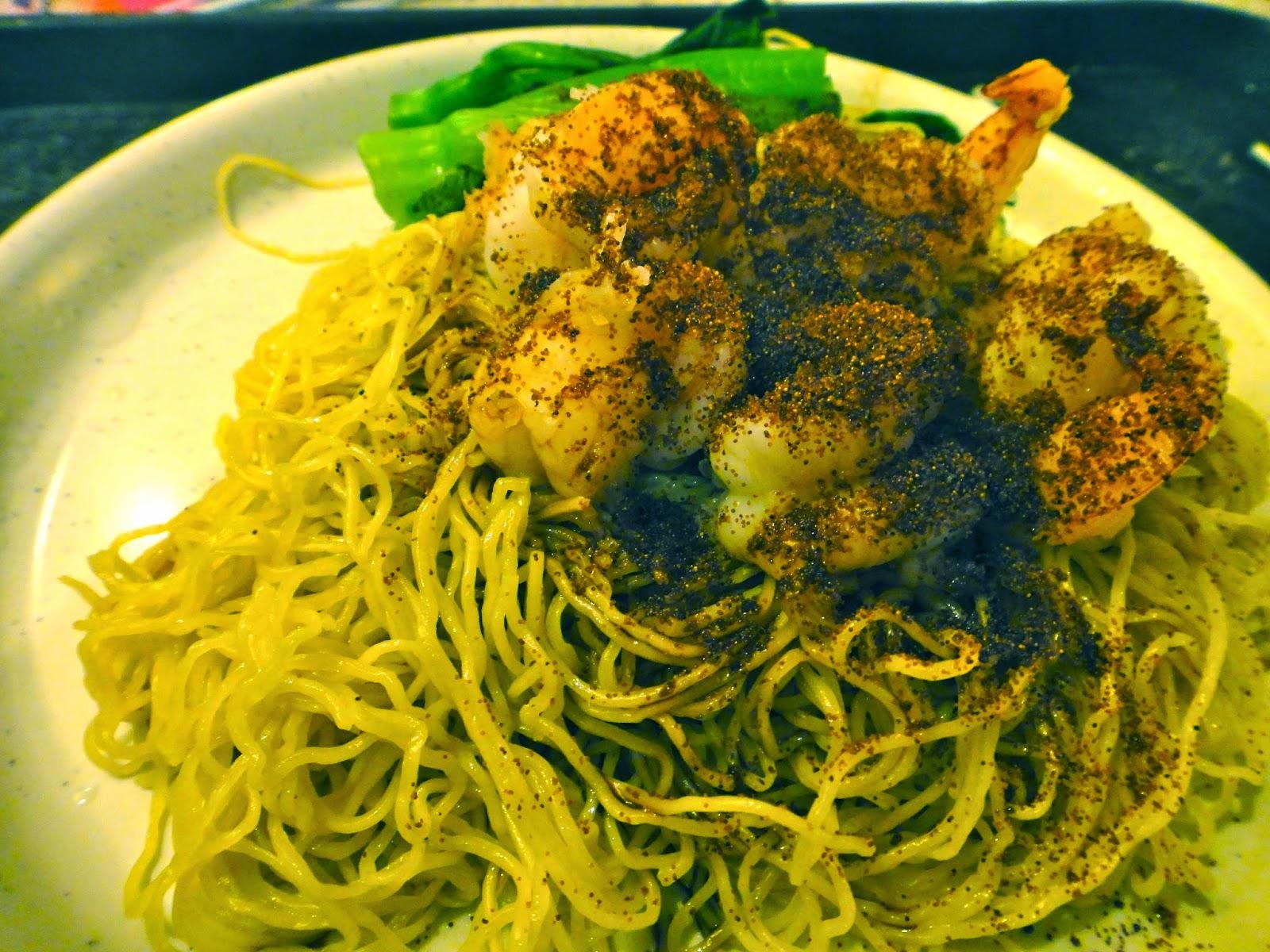 Hong Kong chili prawn noodle at The Venetian Food Court Macao