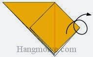 Bước 5: Lật mặt sau tờ giấy ra đằng trước.