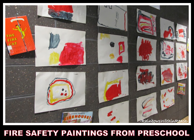 photo of: Preschool Paintings for Fire Safety Observations (via RainbowsWithinReach)
