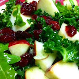Overnight kale apple salad