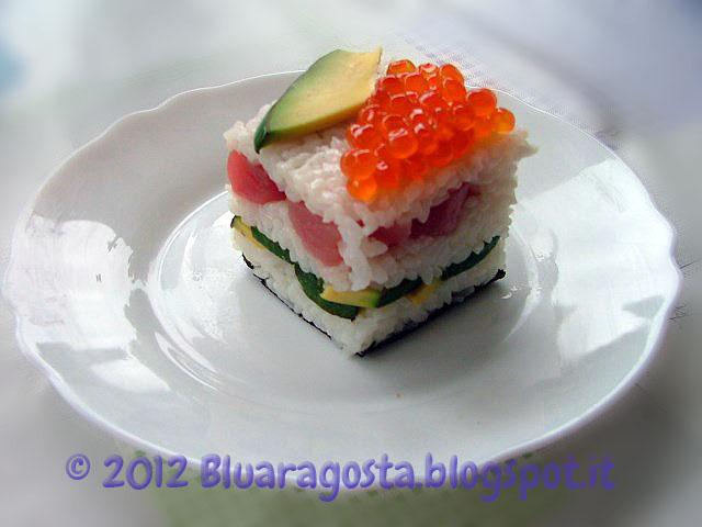 mini sushi cake
